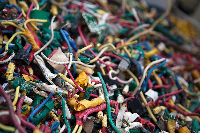 Wiring for recycling in Guangzhou, China by Adam Robert Young