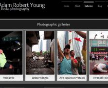 Galleries page of Adam Robert Young's photography website