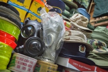 Gas masks in Dan Sinh market by Adam Robert Young