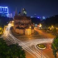 Adam Robert Young - Notre Dame Cathedral, Saigon, Vietnam. A long exposure photograph.