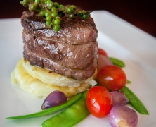 Juicy steak food photography