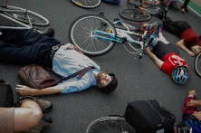 Brisbane die-in protest cyclists